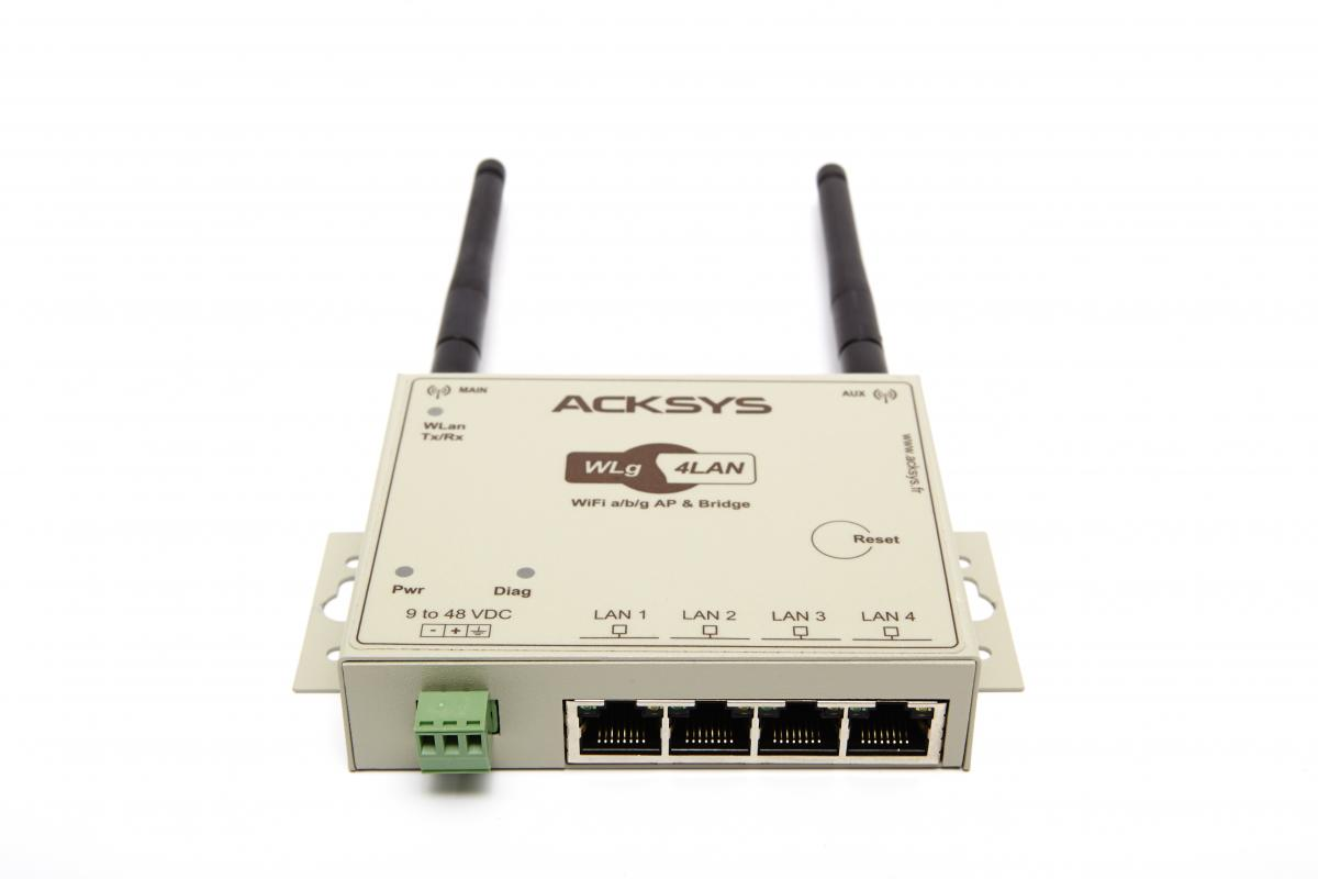 Industrial WiFi switch, WLg-4LAN | BESD