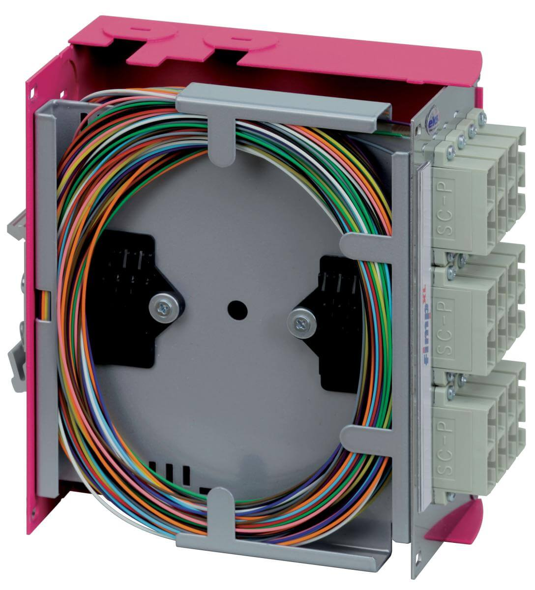 Fiber Optic Splice Box Fimp Xl 62mm Besd Optics And Circuit Board Hd 00 10 Communications Cassette