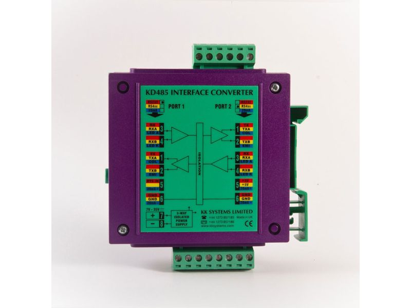 RS232 to RS422/RS485 or 20mA Auto Drive Enable converter