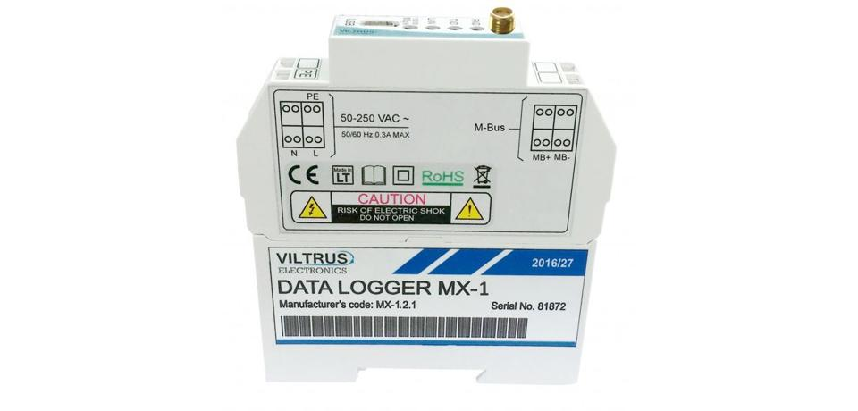 Data logger with M-Bus and Modbus interface, GSM-GPRS