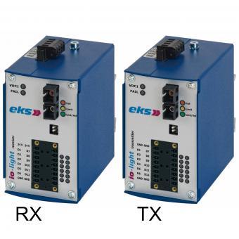 12x Digital I/O via POF/HCS fiber optic converter, IOL3200