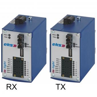 Bi-directional digital I/O to POF/HCS fiber optic converter, IOL3100 ST