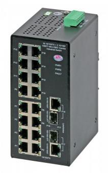18 Port managed Ethernet switch, EC-16TX/2FX