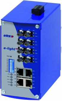 4TX-2FX Port managed Ethernet to singlemode fiber optic switch, EL100-2M