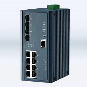 12 Poort managed Ethernet switch, EC-8TX/4FX