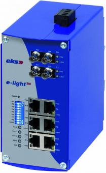 6TX-2FX Poort managed Ethernet naar singlemode glasvezel switch, EL100-2M ST