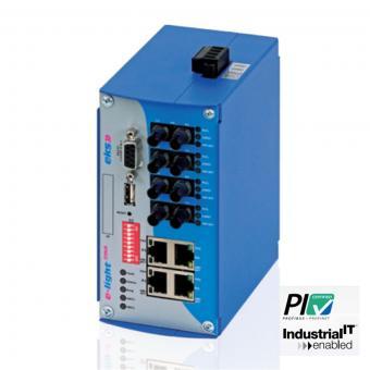 4TX-4FX poort managed Ethernet naar singlemode glasvezel switch, EL100-2MA