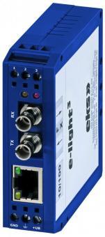 Media converter DIN-rail singlemode PoE, EL-100-P