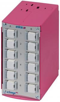 Ethernet patch panel with 12x RJ45 CAT6a, CIMP-XL