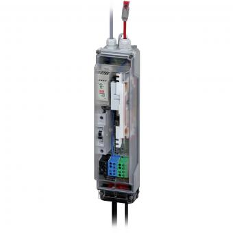 Splice box for street lighting and camera masts, pe-Light active 10/100MB