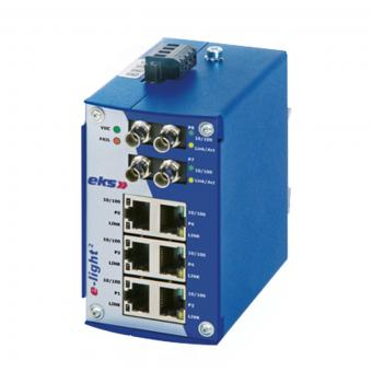 2TX-4FX port unmanaged Ethernet switch with multimode fiber optic, EL100-2U