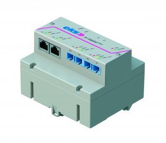 5 port unmanaged Ethernet switch with multimode fiber optic, EL100-REG