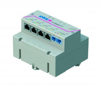 5 port unmanaged Ethernet switch with singlemode fiber optic, EL100-REG