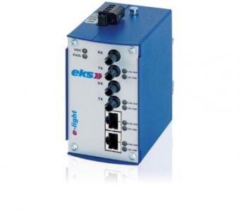 4 port unmanaged Ethernet switch with singlemode fiber optic, EL100-X