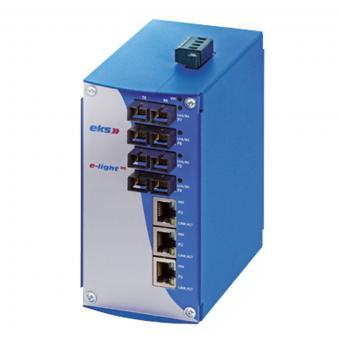 3TX-4FX port unmanaged Gigabit Ethernet switch with singlemode fiber optic, EL1000-2G