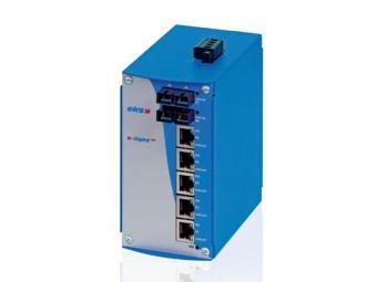 5TX-2FX port unmanaged Gigabit Ethernet switch with singlemode fiber optic, EL1000-2G