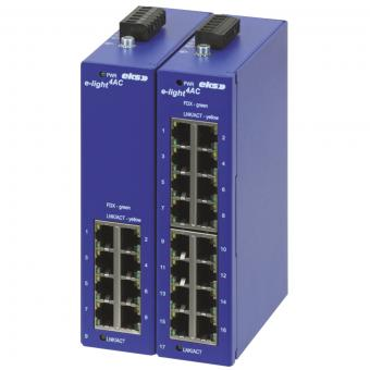 9 en 17 poort unmanaged Ethernet switch met Singlemode glasvezel interface, EL-1100-4AC