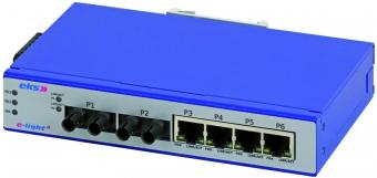 6 poort unmanaged Ethernet switches multimode, EL100-4U