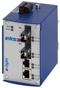 4 poort unmanaged Ethernet switch met singlemode glasvezel, EL100-X SC-BIDI