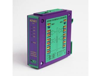 RS232 Serial port isolator, DIN-rail